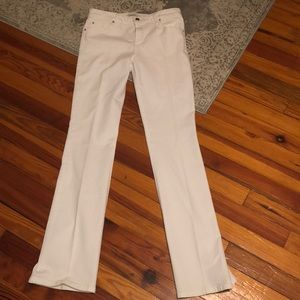 Curvey boot cut white jeans